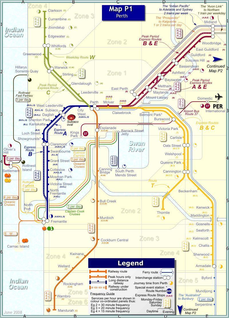 Общая протяженность путей метрополитена составляет 173,1 км. Вметрополиене Пертаработает 6 линий, которые...