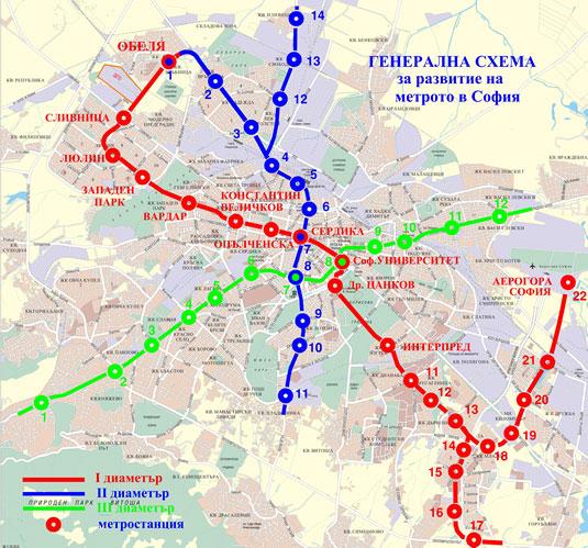 Karta Metro Sofii Bolgariya