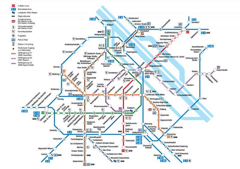 Метрополитен Вены, наряду с