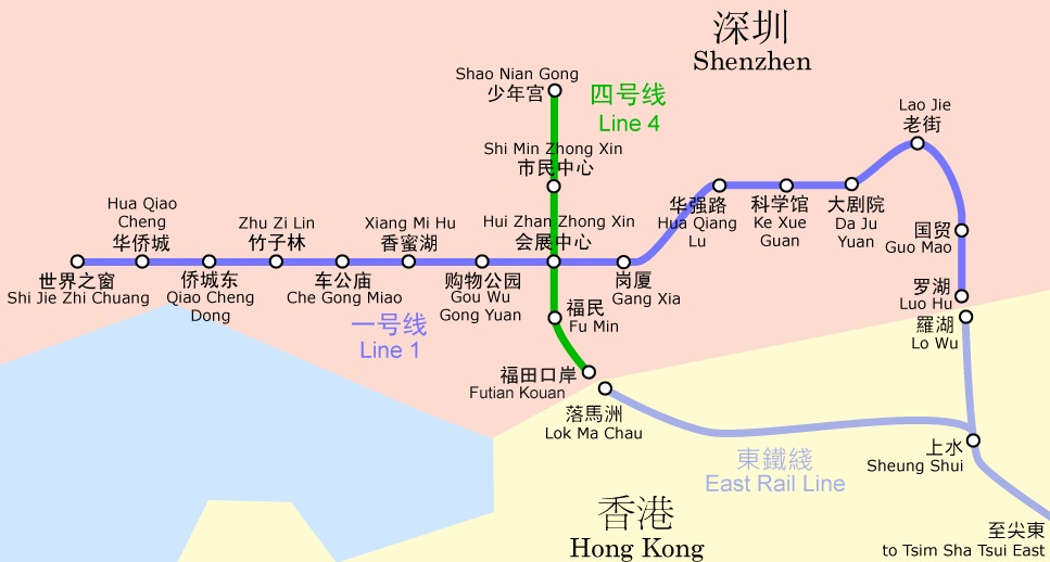 Карта метро Шэньчжэня (КНР)